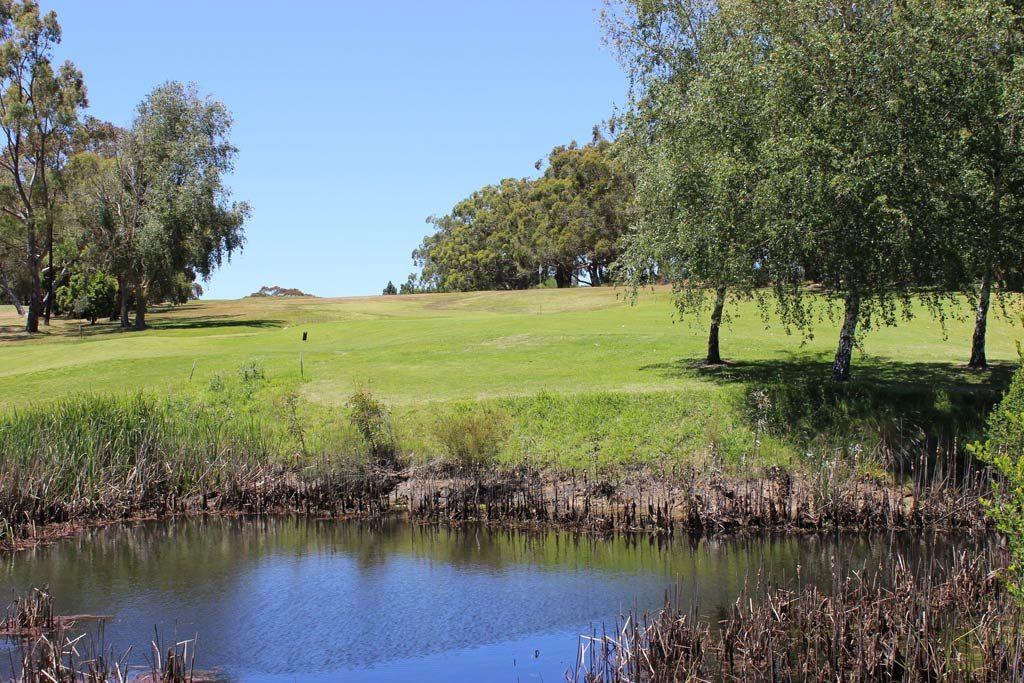 hole 14 water